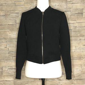 Banana Republic black embossed bomber jacket